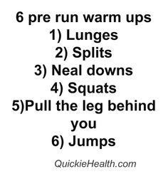 6 pre run warm ups and stretching  @Pinstamatic (http://pinstamatic.com)