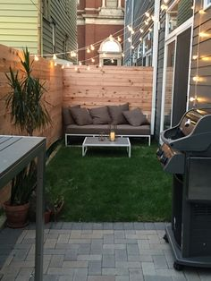 Modern style for your patio, no matter how small.