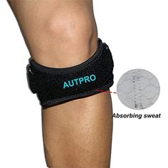 79f6d9d109 Patella Knee Strap for Running, Fitness, Stairs Climbing/Adjustable  Patellar Tendon Support Band