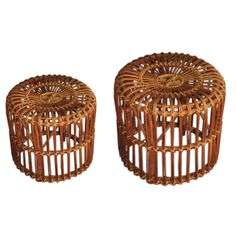 Restored 1940s Stacked Rattan Coffee Table Paul Frankl Manner ** Saturday |  Stacked, Cocktails And Antiques