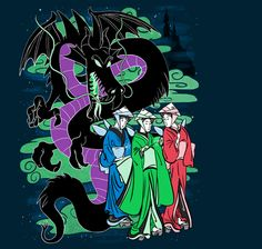 EDO FAIRIES by joshmirm is available MAY 30TH ONLY! Get it here: http://www.teefury.com/?&c3ch=Social&c3nid=Pinterest