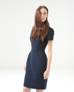 French Connection Night Sky Jaquard Dress - Atterley Road