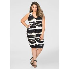 33dd872c82d Ashley Stewart Printed Ruched Zip Front Dress ( 45) ❤ liked on Polyvore  featuring dresses · Zip Front DressCurvy Plus SizePlus Size WomenRuched ...