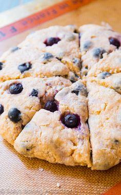 The BEST Blueberry Scones - super moist and tender in every bite. Better than a bakery, trust me! sallysbakingaddiction.com