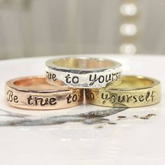 'Be True To Yourself' Message Ring from notonthehighstreet.com