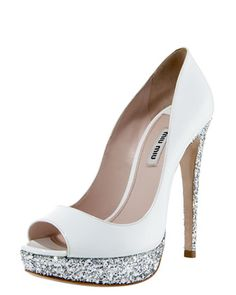 Glitter-Heel Patent Pump would be hot