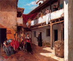 """"""" La casa de tócame Roque""""- Manuel García Hispaleto  (Sevilla, 1836 - Madrid, 1898), fue un pintor español. Fue un artista afamado que se destacó por sus retratos y sus cuadros de carácter histórico, literario y costumbrista. Era hermano del también pintor Rafael García Hispaleto."""