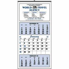 #65 Commercial Wall Calendar #wallcalendar #threemonthcalendar #travelagents #insurance #construction