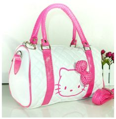 New Hello Kitty Bag with Shoulder Strap Purse Women Girl Gift 2018 White  Pink   eBay 7f09e07db3