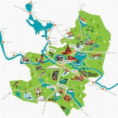 Map illustration Södra Dalarna Sweden by Magnus Sjöberg, via Behance Map Design, Map Illustrations, Cartography, Digital Illustration, Art Direction, Sweden, Infographic, Maps, Infographics