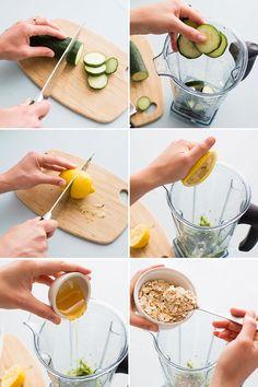 Homemade Face Mask ~ Use cucumber, lemon and oatmeal to make a homemade face mask.