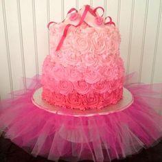 baby girl ballerina shower cakes