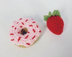 Crochet Pattern-MINI TARTS playfood / toys-PDF 00417