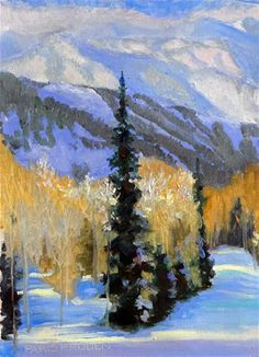 """Snowy Trail"" - oil by ©Nancy Paris Pruden (via DailyPaintworks)"