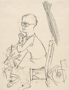 Georg Grosz (German, Portrait of Otto Schmalhausen, Pen and ink on paper, 60 x 46 cm. Postmodernism, Vintage Photos, Otto Dix, Fairy Tales, Ink, Black And White, History, Portrait, Interesting Stuff