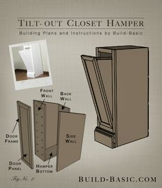 Tilt-Out Closet Hamper – Part of The Build Basic Closet System –Building Plans by @BuildBasic www.build-basic.com