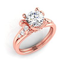 Hand made rose gold engagement ring by EternityCollection on Etsy