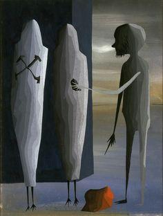 Juan Batlle Planas - Tres Personajes (Three Characters) 1941 Blanton Museum of Art