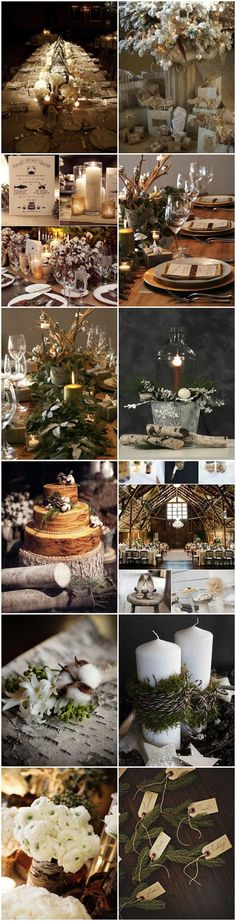 mariage d'hiver nature