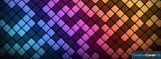 Colourful Diamond Pattern Facebook Cover Timeline Banner For Fb Facebook Cover