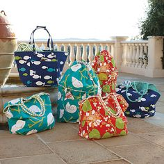 Canvas Beach Tote Bags- Monogrammed Beach Bag from The Palm Gifts ...