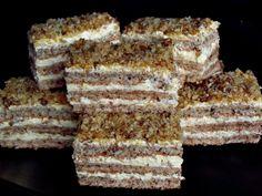 Prajitura Krantz - CAIETUL CU RETETE Romanian Desserts, Russian Desserts, Romanian Food, Romanian Recipes, Sweets Recipes, Cake Recipes, Cooking Recipes, Cooking Tips, Krantz Cake