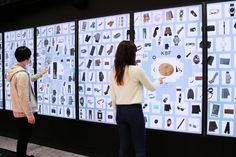 Digital Information Wall in department store in Japan. Based on promote the newest products available in department store. Interactive Table, Interactive Exhibition, Interactive Media, Interactive Installation, Interactive Design, Signage Display, Event Signage, Wayfinding Signage, Digital Signage