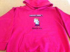 Pink hoodie Hoodies, Sweatshirts, Minecraft, Sweaters, Pink, Fashion, Moda, Rose, Sweater