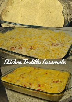 Chicken Tortilla Casserole Recipe--Quick and Easy Tex-Mex goodness. Comfort food for the Mexican at heart!