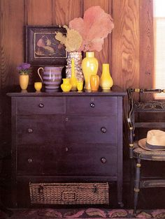This is the color I'm thinking of of my dresser - but a little darker and glossier.