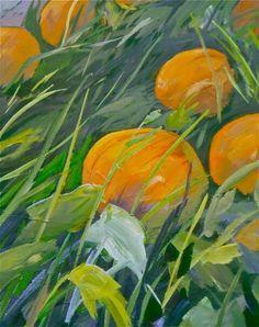 """Pumpkins at Mitchell Farm"" by Marie Nagel. Plein air in Saanich, B.C., October 2013. marienagel.com facebook.com/marienagelart"