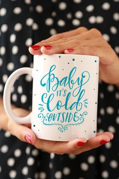 Oh, Baby, you'll freeze out there! - Make this mug your Holiday morning start. - Ceramic - Dishwasher and Microwave safe - 11 oz - White, glossy Processing time: 2-6 business days + shipping time (Cho