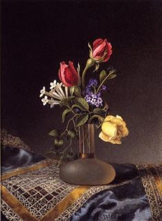 martin johnson heade flowers in a frosted vase paintings