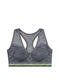 d94589272f8 Victorias Secret Womens PINK Seemless Racerback Bralette Bra Medium Grey  Marl     Continue to the product at the image link.