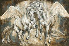 Reproductions giclées sur toile - giclée prints on canvas — Elise Genest Painted Horses, Abstract Horse Painting, Art Occidental, L'art Du Portrait, Horse Sketch, Horse Illustration, Horse Artwork, Horse Drawings, Equine Art