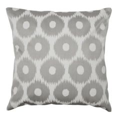 "24"" Circle Ikat Pillow - Grey from Z Gallerie"