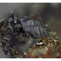 Mückeite, NiCu(Bi,Sb)S 3, Gruneau Mine, Schutzbach, North Rhine - Westphalia, Germany