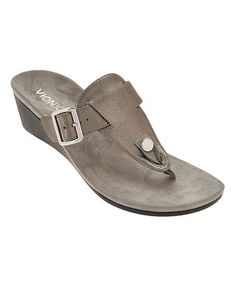 64bb3d15c823 Love this Silver Ginger Interchangeable T-Strap Sandal - Women on  zulily!
