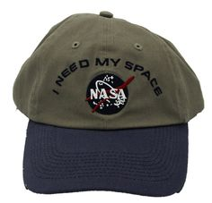 NASA - I Need My Space baseball hat via Waxin' and Milkin' (Mark Malazarte)
