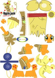 PaperCraft Applejack Hallowen by oskarek11 on deviantART