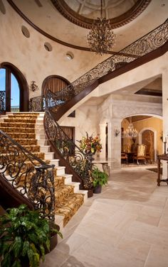 Stunning foyer and staircase | Sun West Custom Homes ᘡղbᘠ