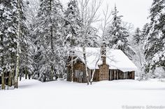 Winter Photography, Rustic Snowy Cabin, Greeting Cards, Wisconsin Winter Wonderland, Snow, Forest, Woods, Magical, Winter Get Away