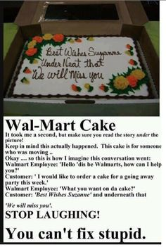 Wal-Mart cake mistakes | ... When You Order A Walmart Cake Breaking News & Views on BlackMediaScoop
