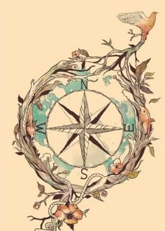 "Love the idea of a compass tattoo, maybe with a more worldly design around it; lion, sea turtle, iguana, kangaroo, waves, branches, and mountains. With my own quote: ""The wanderlust runs deep within me. I follow the compass of my heart."" I'd get it on my ribs"