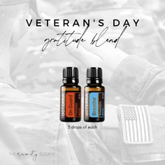 Essential Oil Diffuser Blend for Veteran's Day 11/11 Essential Oil Diffuser Blends, Doterra Essential Oils, Veterans Day, Doterra