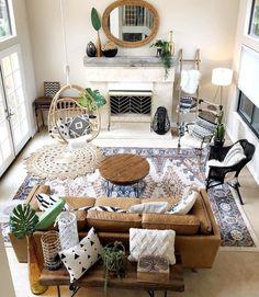 Elegant Home Interior .Elegant Home Interior Boho Living Room, Home And Living, Living Room Decor, Bedroom Decor, Tan Sofa Living Room Ideas, Western Living Rooms, Wall Decor, Bedroom Wall, Living Room Inspiration