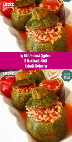 Stuffed Cretan Zucchini Stuffed in Raw Material in 5 Minutes My Delicious Food Easy Dinner Recipes, Pasta Recipes, Breakfast Recipes, Easy Meals, Turkish Sweets, Turkish Kitchen, Fresh Fruits And Vegetables, Fish And Seafood, Family Meals