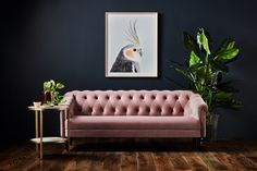 Pretty in Pink – Get ready to swoon over the Limited Edition Coco Velvet Chester… Pretty in Pink – Get ready to swoon over the Limited Edition Coco Velvet Chesterfield Sofa. It's the perfect statement piece for a luxe living room – Mobilier de Salon Dark Living Rooms, Living Room Orange, New Living Room, Living Room Modern, Living Room Sofa, Living Room Interior, Living Room Designs, Living Room Decor, Chesterfield Living Room