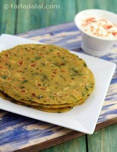 Paneer Methi Roti is an interesting variation of the common paneer parathas, this one is sure to win over several hearts with its mild flavour. The addition of methi increases the iron content and vitamin A value substantially. Serve it with a bowl of low-fat curds, to make a complete meal. I've used wholesome whole wheat flour instead of maida, which is devoid of essential vitamins, minerals and fibre.
