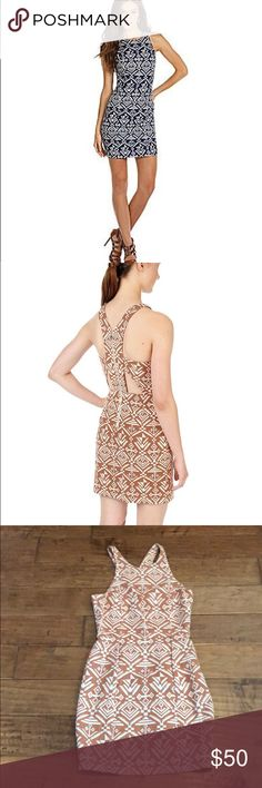Dolce Vita Dada Tapestry Dress Worn once!   Zip yourself into DV Dolce Vita's tribal print dress. The trend-right pattern and cool cutouts are very of-the-moment.  Round neck, sleeveless Cutouts at back, exposed back zip, lined Cotton Dry clean Imported DV by Dolce Vita Dresses Mini